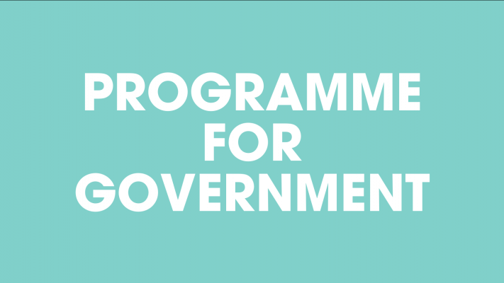 Programme for Government text