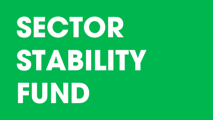 "White text on a green background that reads, ""Sector Stability Fund"""