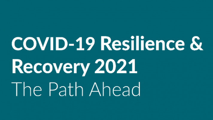 COVID-19 Resilience & Recovery: The Path Ahead. A screenshot of the cover of the Government's new plan.